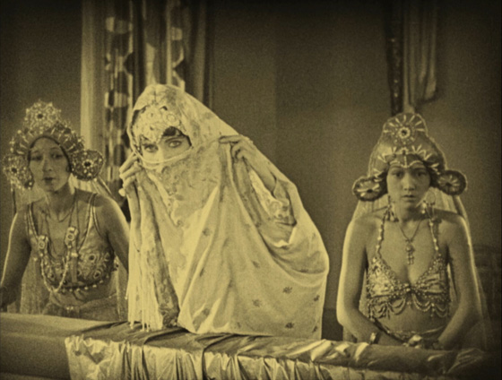 Julanne Johnston as The Princess with her servants looking at the Princes 1924 The Thief of Bagdad picture image