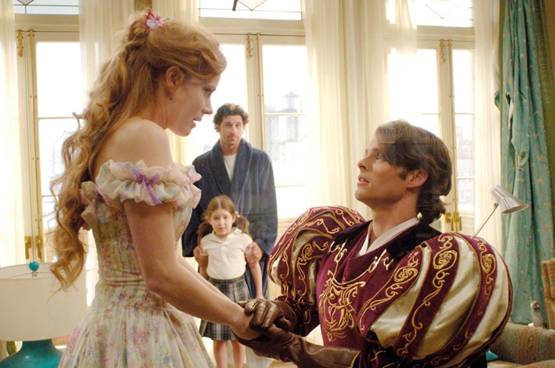 Amy Adams as Giselle with James Marsden as Prince Edward and with Patrick Dempsey as Robert and Rachel Covey as Morgan Enchanted picture image