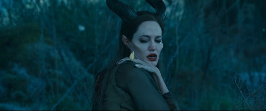 Angelina Jolie as Maleficent after her wings have been cut off picture image
