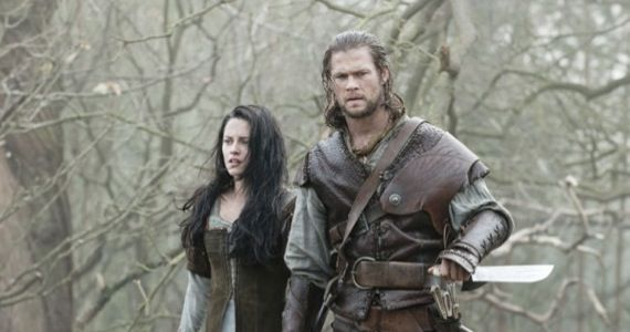 Kristen Stewart as Snow White & Chris Hemsworth as The Huntsmen Snow White and the Huntsmen picture image