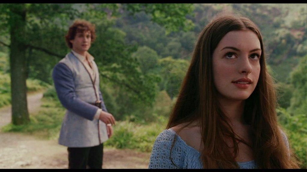 Anne Hathaway as Ella and Hugh Dancy as Prince Char Ella Enchanted picture image