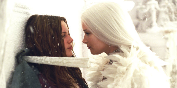 Bridget Fonda as Snow Queen with Chelsea Hobbs as Gerda The Snow Queen picture image