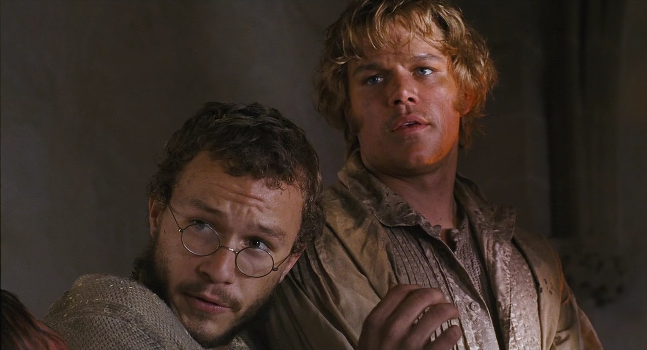 Matt Damon as Will and Health Ledger as Jacob The Brothers Grimm picture image