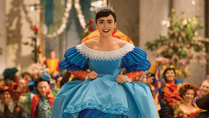 Lily Collins as Snow White Mirror Mirror picture image