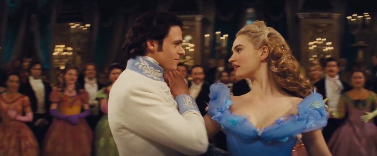 Lily James as Ella and Richard Madden as Prince Kit Cinderella 2015 picture image