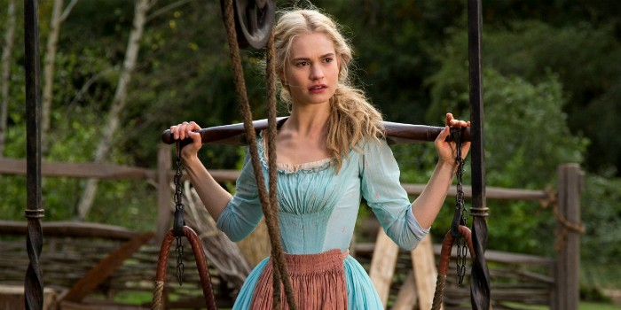 Lily James as Ella Cinderella 2015 picture image