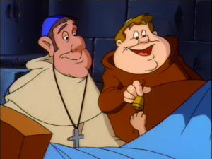 The Archdeacon and Brother Labas with Baby Quasimodo The Secret of the Hunchback picture image