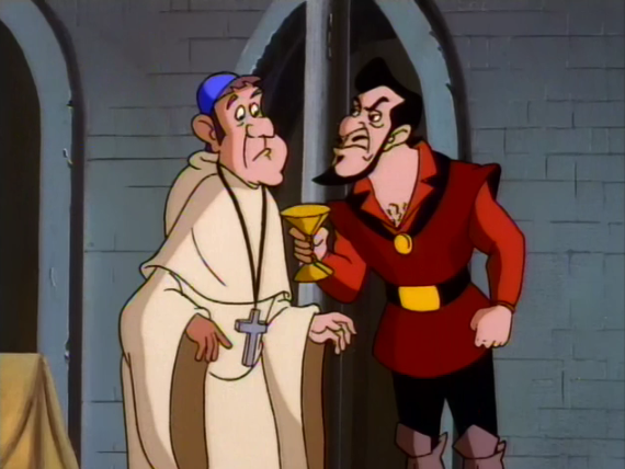 Frollo threatening the Archdeacon The Secret of the Hunchback picture image