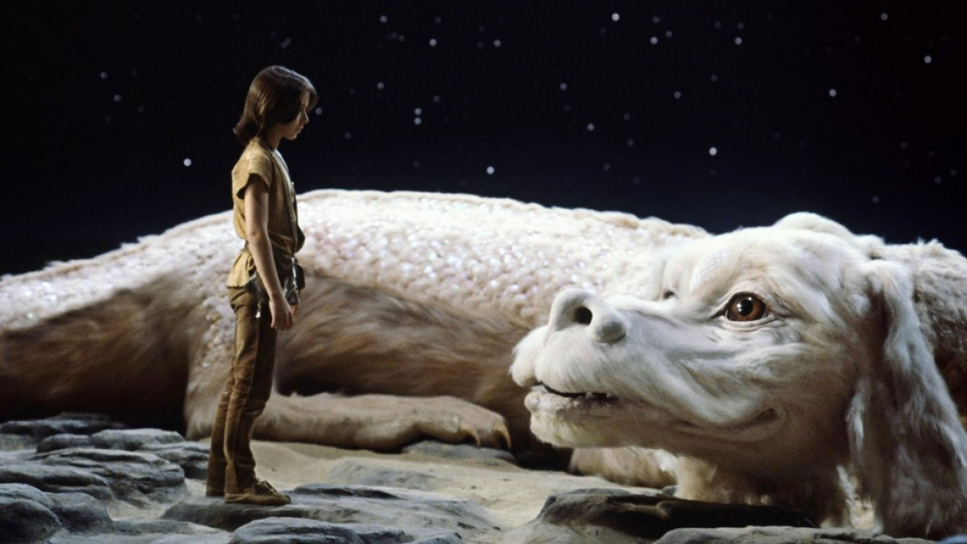 Noah Hathaway as Atreyu and Falkor The Neverending Story picture image