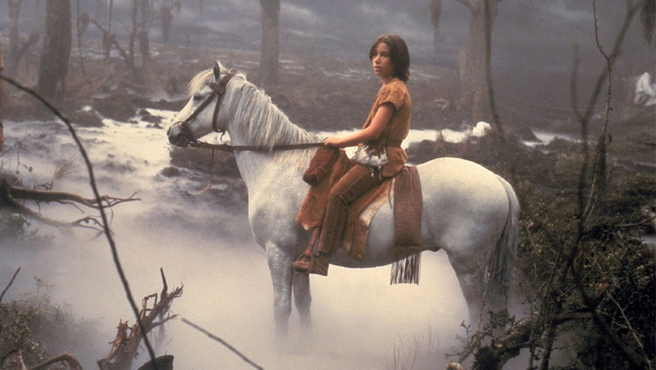 Noah Hathaway as Atreyu and Artax The Neverending Story picture image