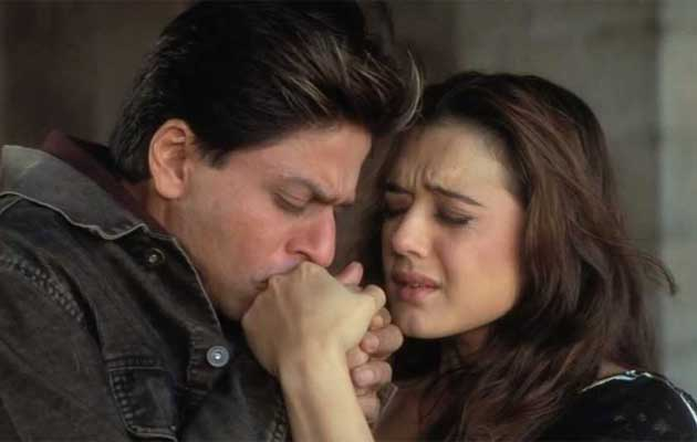 Shah Rukh Khan as Veer and Preity Zinta as Zaara in Veer-Zaara picture image