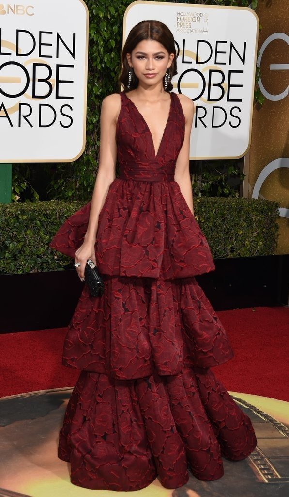 Zendaya wearing Marchesa at 2016 Golden Globes Image Source: Getty / VALERIE MACON picture