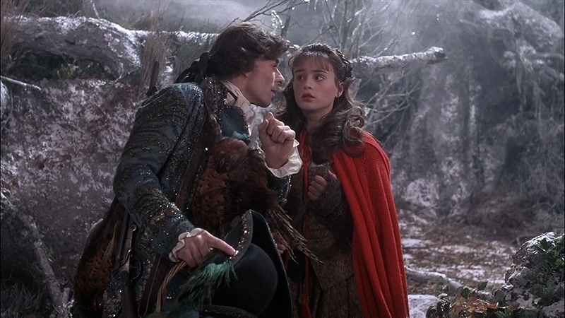 Sarah Patterson as Rosaleen and Micha Bergese as Huntsman In the Company of Wolves