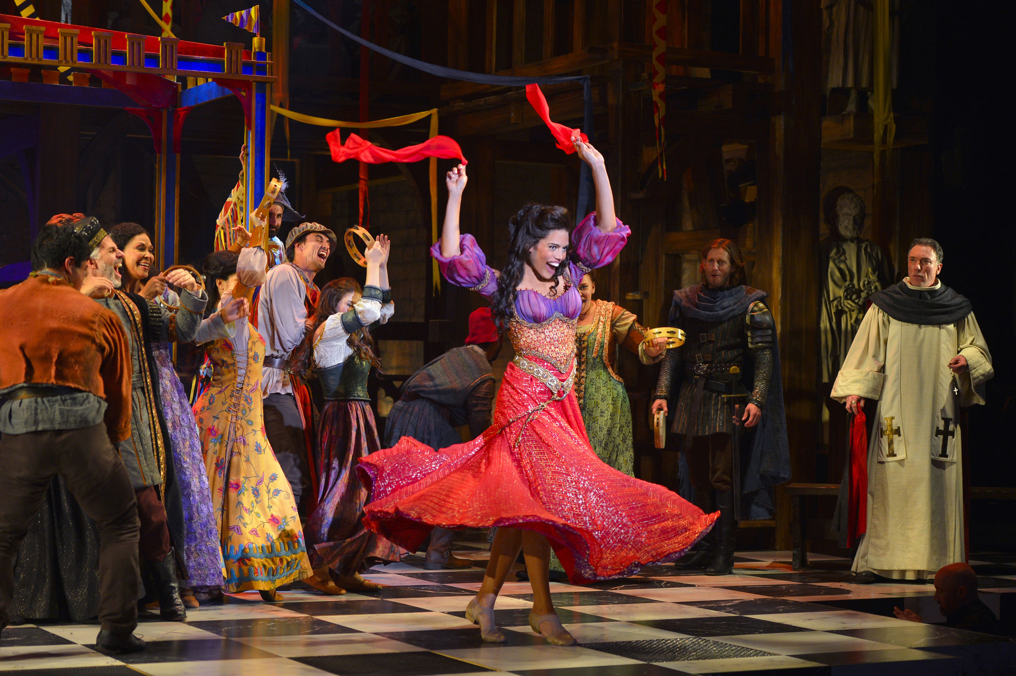 Ciara Renee as Esmeralda, Papermill production of Hunchback of Notre Dame picture image