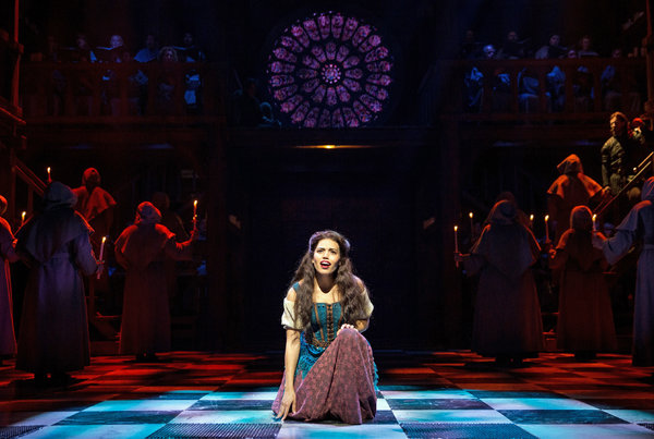 Ciara Renee as Esmeralda singing God Help the Outcasts, production of Hunchback of Notre Dame picture image