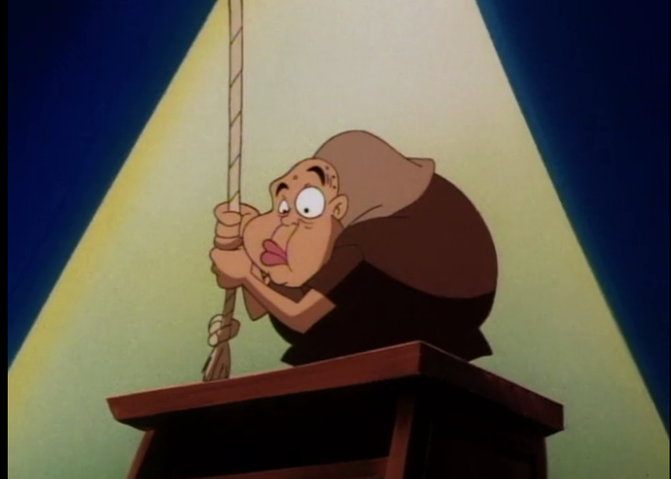 Quasimodo in Animaniacs hooked on a ceiling picture image