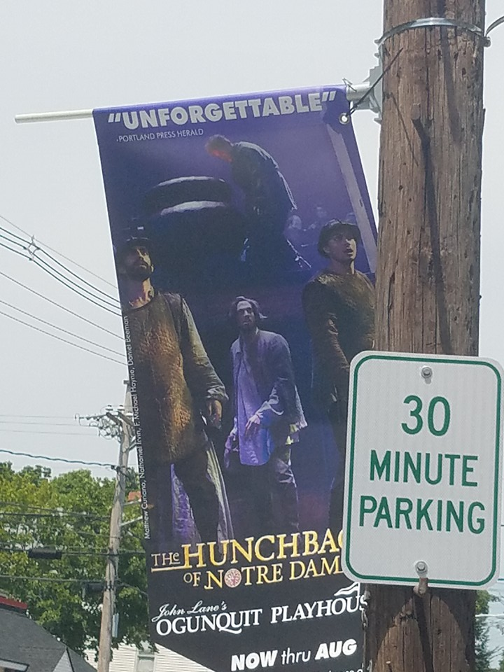 Ad of the Ogunquit's production of Hunchback of Notre Dame picture image