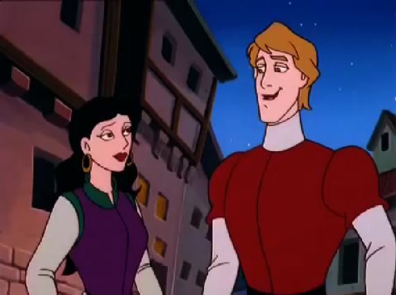 Esmeralda meets Phoebus Other Burbank Hunchback of Notre Dame picture image