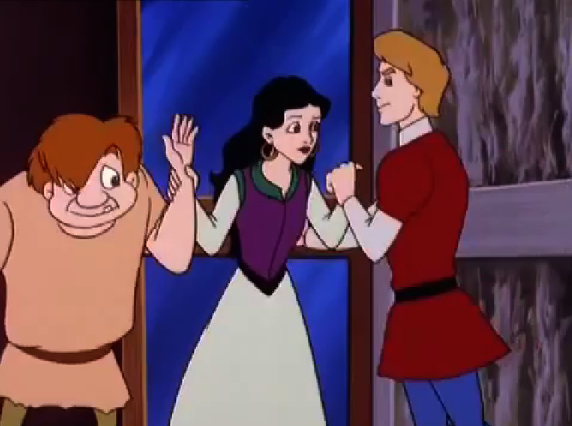 Esmeralda, Quasimodo and Phoebus Other Burbank Hunchback of Notre Dame picture image