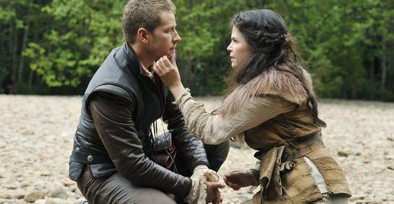 Ginnifer Goodwin as Snow White & Josh Dallas as Prince Charming once upon a time season 1 episode 3 Snow Falls picture image
