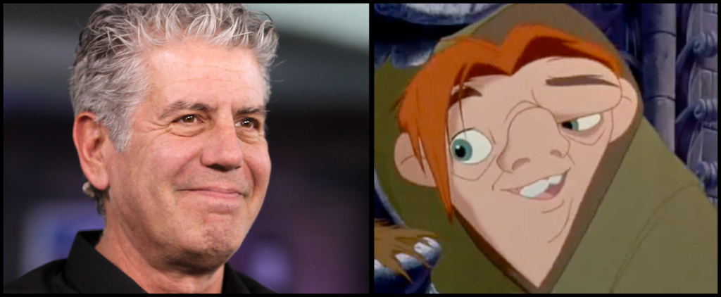 Anthony Bourdain and Quasimodo picture image