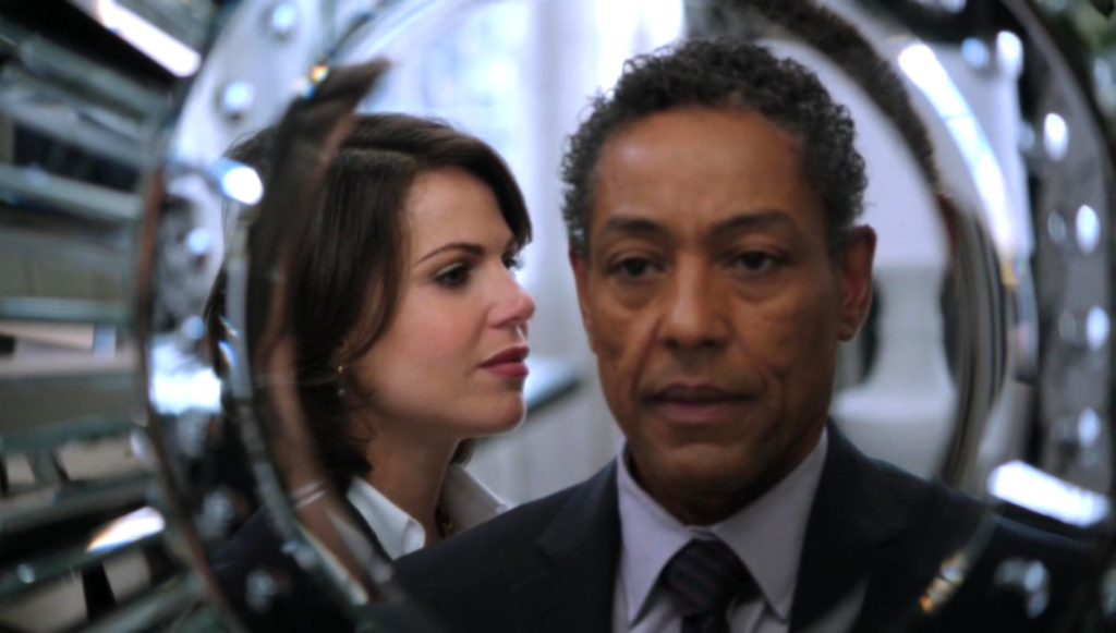 Lana Parrilla as Regina Mills & Giancarlo Esposito as Sidney Glass, ABC's Once Upon a Time, Fruit of the Poisonous Tree picture image