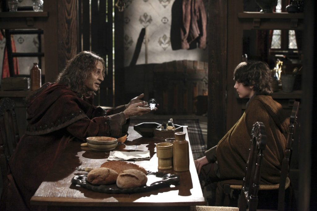 Robert Carlyle as Rumpelstiktskin & Dylan Schmidt as Baelfire ABC's Once Upon a Time, The Return picture image