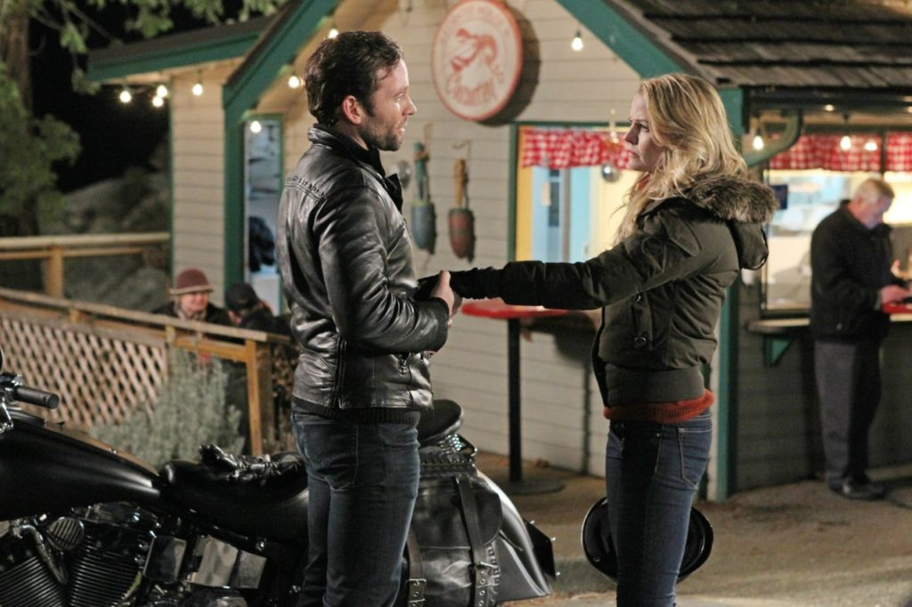 Jennifer Morrison as Emma Swan & Eion Bailey as August Booth ABC's Once Upon a Time, The Stranger picture image