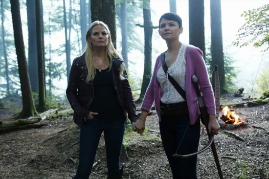 Jennifer Morrison as Emma Swan and Ginnifer Goodwin as Mary Margaret Once Upon a Time Season 2 Episode 3, Lady of the Lake picture image