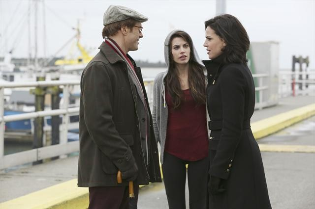 Lana Parrilla as Regina, Raphael Sbarge as Archie Hopper & Meghan Ory as Ruby, Once Upon a Time Season 2 Episode 10 The Cricket Game picture image