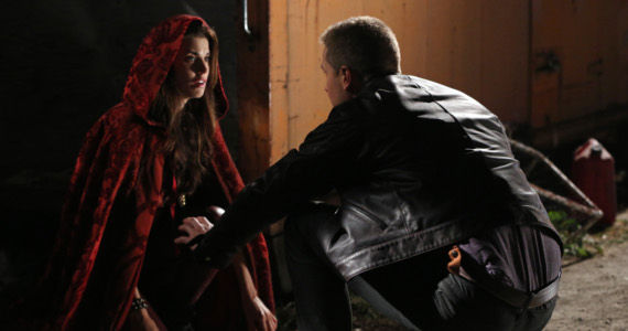 Meghan Ory as Ruby and Josh Dallas as Charming Once Upon a Time Season Episode 7 Child of the Moon picture image