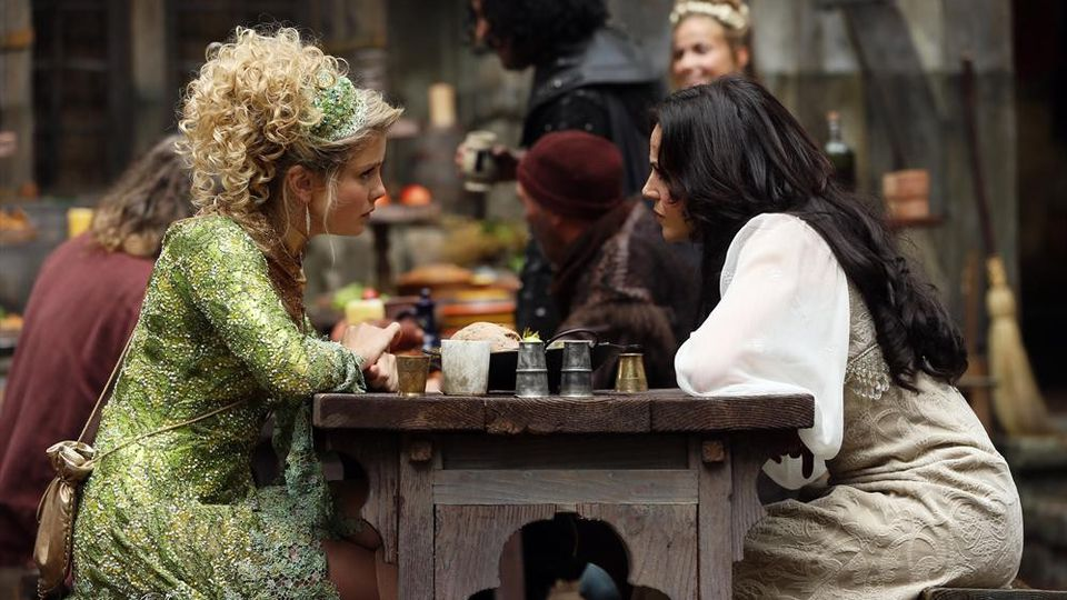 Lana Parrilla as Regina & Rose McIver as Tinker Bell, ABCs Once Upon a Time Season 3 Episode 03 Quite a Common Fairy Picture image
