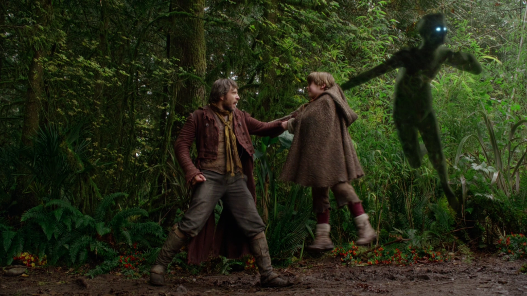 Stephen Lord as Malcolm & Wyatt Oleff as Young Rumplestiltskin, ABCs Once Upon a Time Season 3 Episode 08 Think Lovely Thoughts Picture image