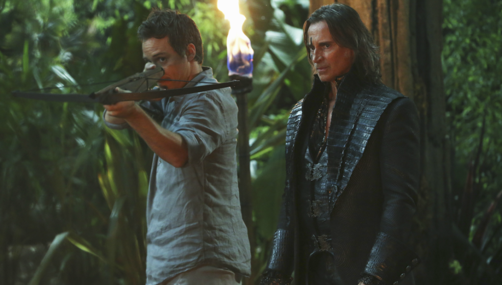 Michael Raymond-James as Neal & Robert Carlyle as Rumplestiltskin ABCs Once Upon a Time Season 3 Episode 04 Nasty Habits Picture image