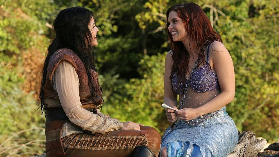 Ginnifer Goodwin as Snow White & Joanna Garcia Swisher as Ariel ABCs Once Upon a Time Season 3 Episode 06, Ariel Picture image