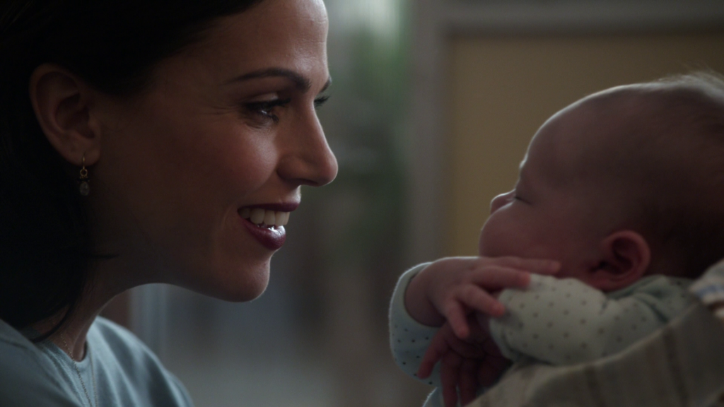 Lana Parrilla as Regina with Baby Henry, ABCs Once Upon a Time Season 3 Episode 09 Save Henry Picture image