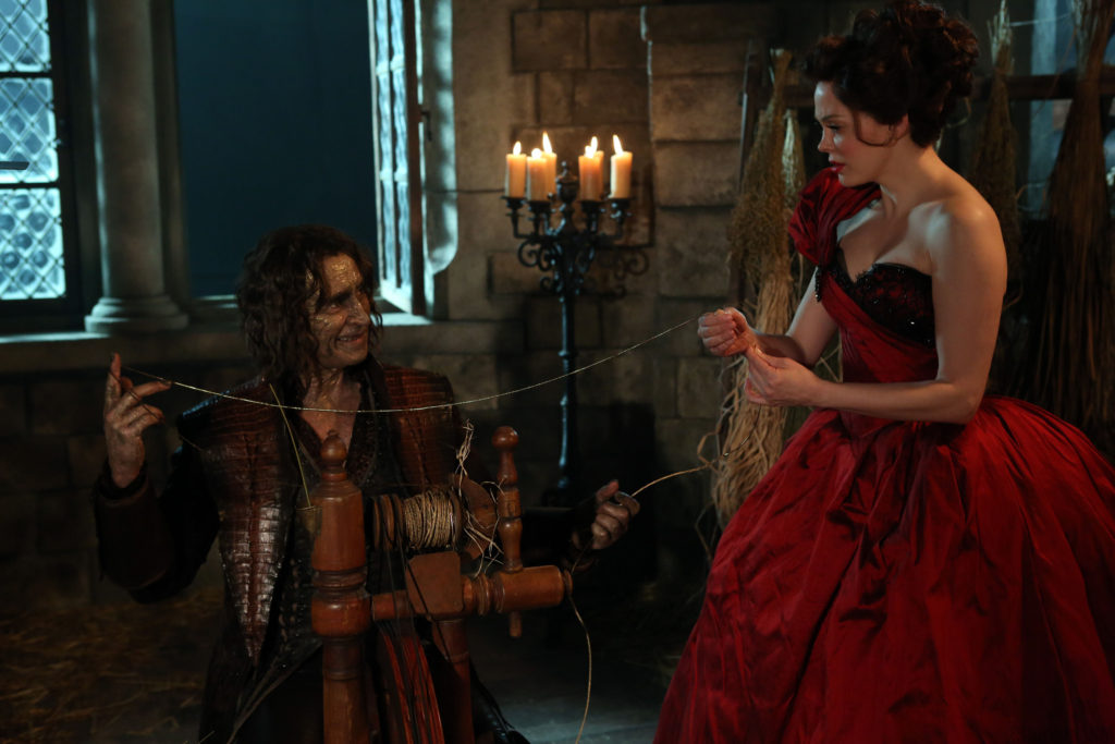 Robert Carlyle as Rumplestiltskin & Rose McGowan as Cora Season 2 Episode 16 Miller's Daughter ABC Once Upon a Time picture image