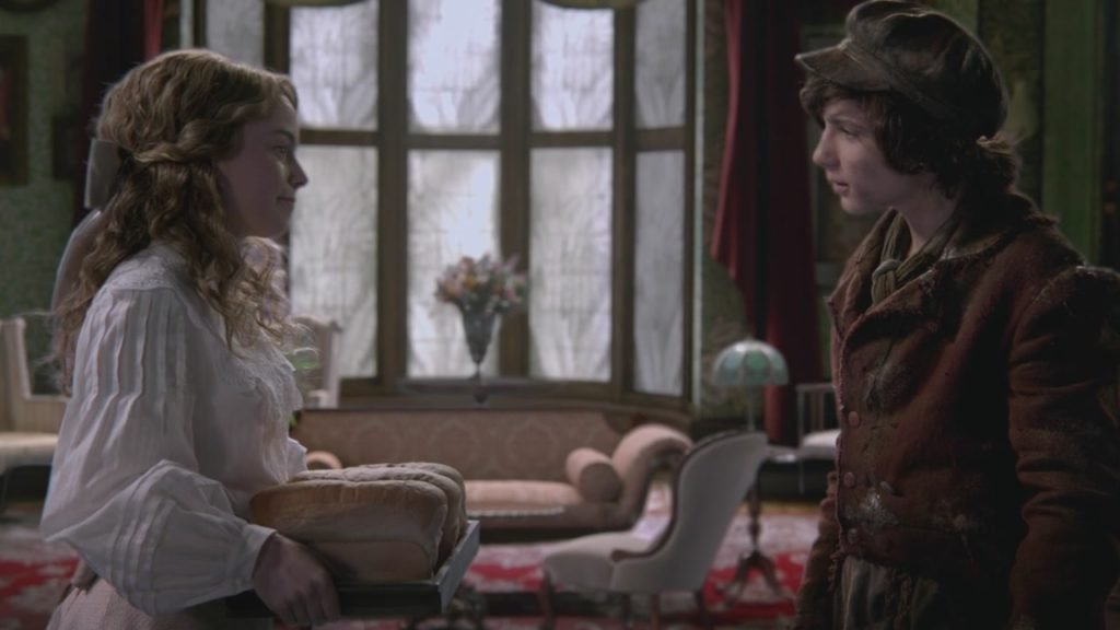 Dylan Schmidt as Baelfire & Freya Tingley as Wendy Darling Season 2 Episode 21 Second Star to the Right, ABC Once Upon a Time picture image