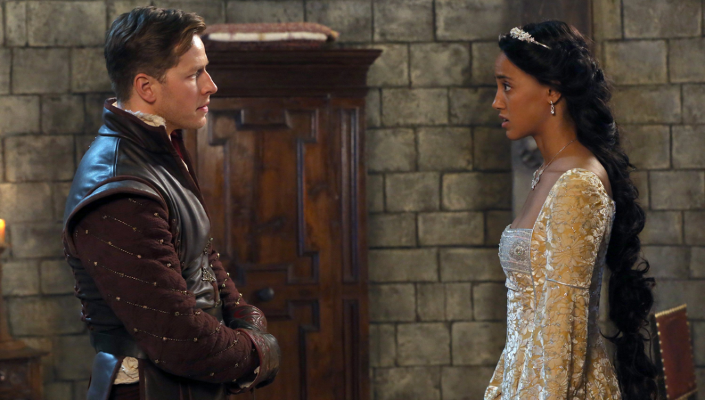 Josh Dallas as Princes Charming (David) & Alexandra Metz as Rapunzel ABCs Once Upon a Time The Tower picture image