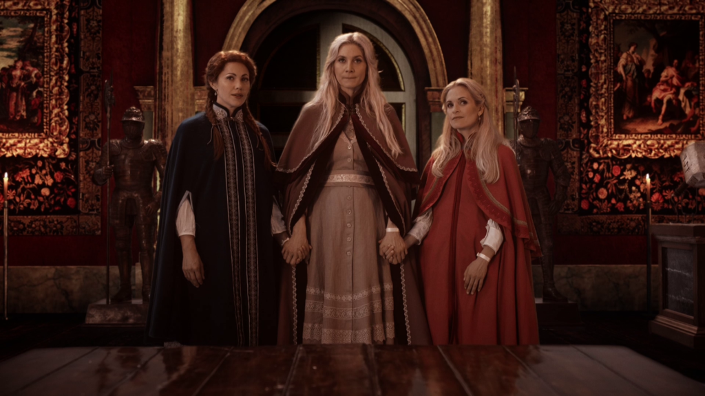 Pascale Hutton as Gerda, Elizabeth Mitchell as Ingrid & Sally Pressman as Helga ABC Once Upon a Time The Snow Queen picture image