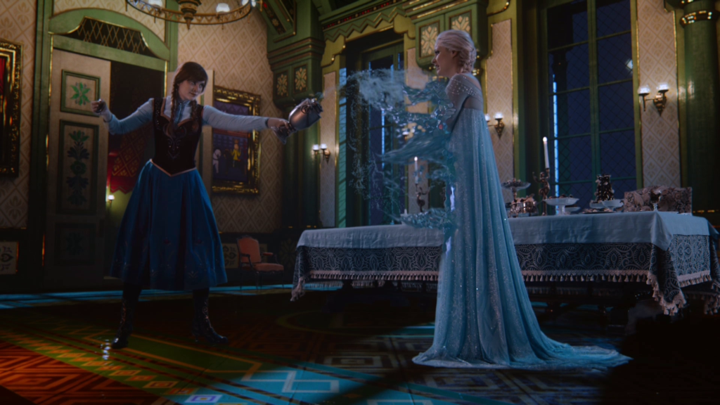 Georgina Haig as Elsa & Elizabeth Lail as Anna ABC Once Upon a Time Smash the Mirror Part 2 picture image