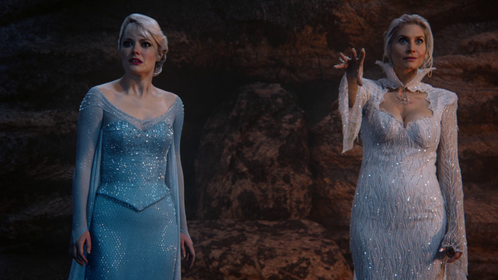 Georgina Haig as Elsa and Elizabeth Mitchell as The Snow Queen ABC Once Upon a Time RockyRoad picture image