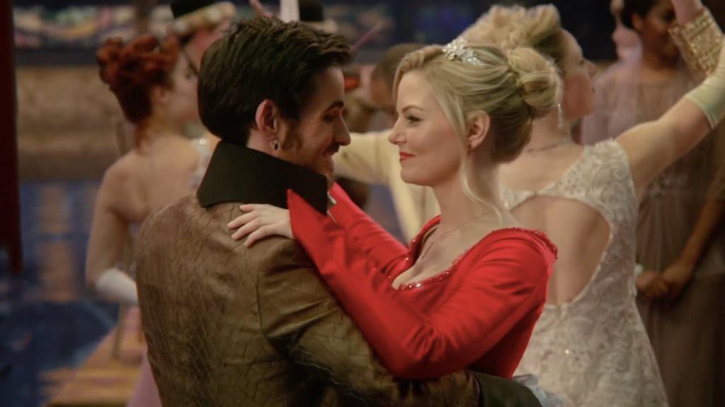 Colin O'Donoghue as Captain Hook & Jennifer Morrison as Emma Swan ABC's Once Upon a Time, Snow Drifts picture image