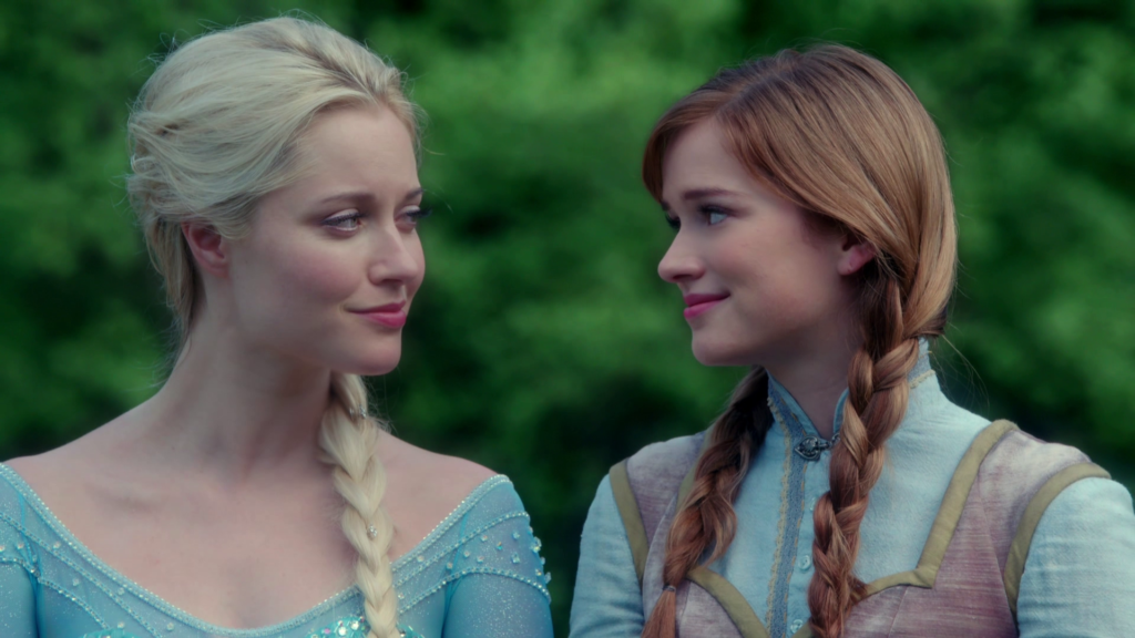 Georgina Haig as Elsa & Elizabeth Lail as Anna ABC's Once Upon a Time Tale of Two Sisters picture image