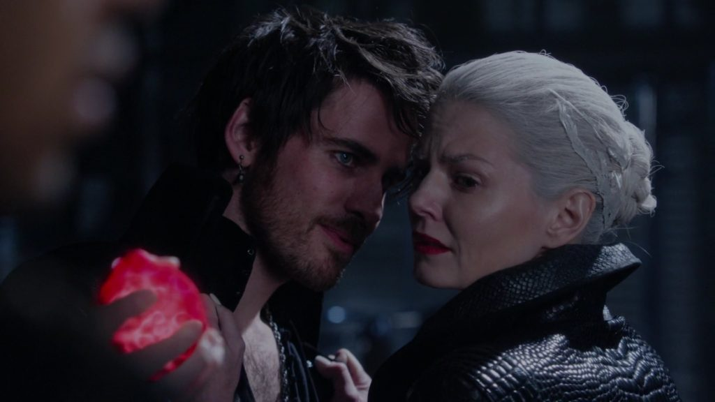 Colin O'Donoghue as Captain Hook & Jennifer Morrison as Emma Swan Once Upon a Time Season 5 Episode 10-Broken Heart review picture image