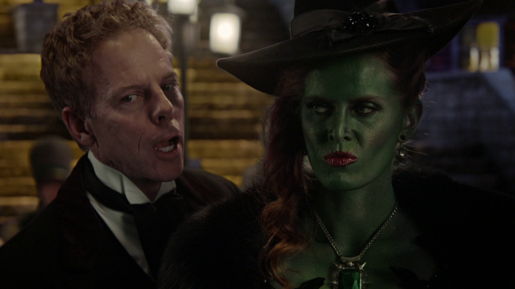 Greg Germann as Hades & Rebecca Mader as Zelena Once Upon a Time Season 5 Episode 16 Our Decay review picture image