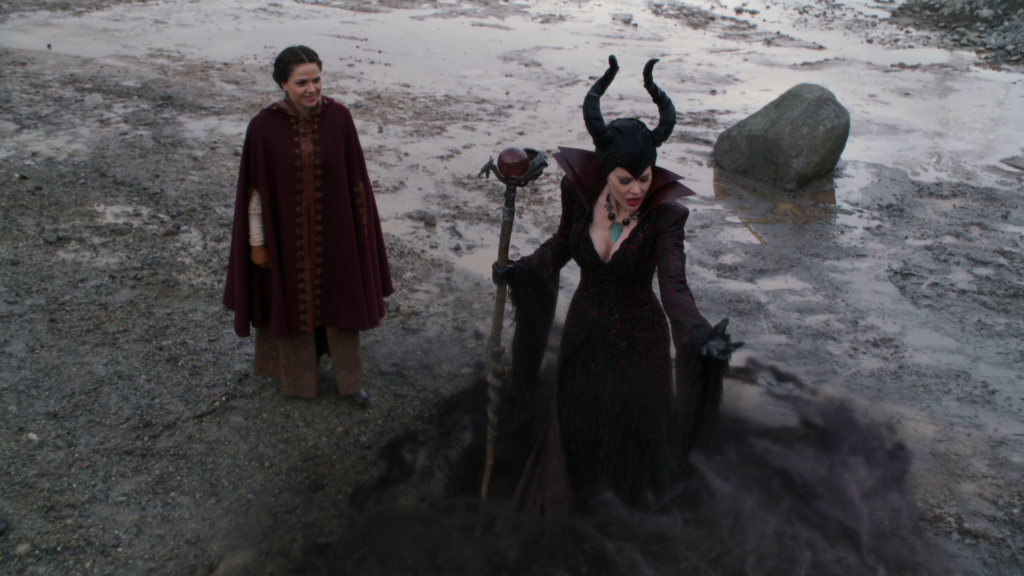 Lana Parrilla as Regina & Kristin Bauer van Straten as Maleficent Once Upon a Time Season 04 Episode15 Enter The Dragon picture image