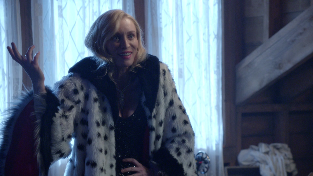 Victoria Smurfit as Cruella De Vil Once Upon a Time Season04 Episode 19 Sympathy for De Vil Review picture image