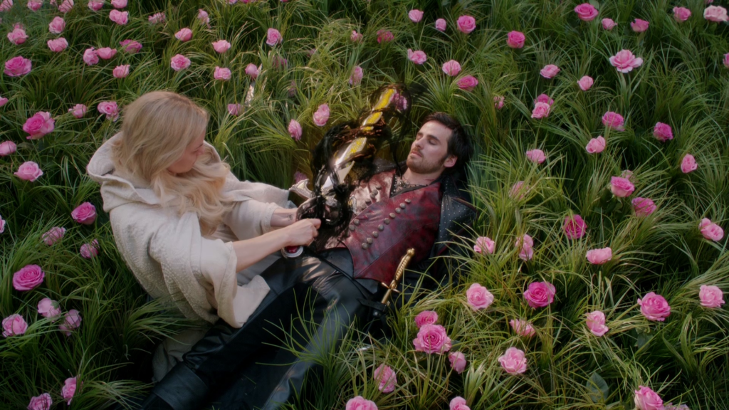 Jennifer Morrison as Emma Swan & Colin O'Donoghue as Captain Hook Once Upon a Time Season 5 Episode 8 Birth review picture image