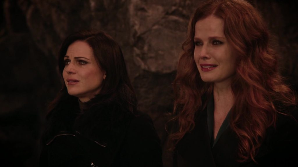 Lana Parrilla as Regina & Rebecca Mader as Zelena Once Upon a Time Season 5 Episode 19 Sisters review picture image